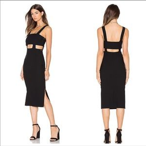 CINQ A SEPT - Celeste Cutout MIDI Dress